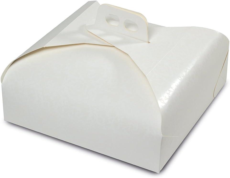 Guardini 15767, Línea Monouso, 1 Caja para Tarta 33x33. Material: Papel de Horno, Color Blanco, 33x33cm: Amazon.es: Hogar