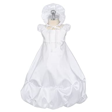 70ef7778f Image Unavailable. Image not available for. Color: Sweet Kids White Bow Christening  Baptism Dress Gown Baby ...