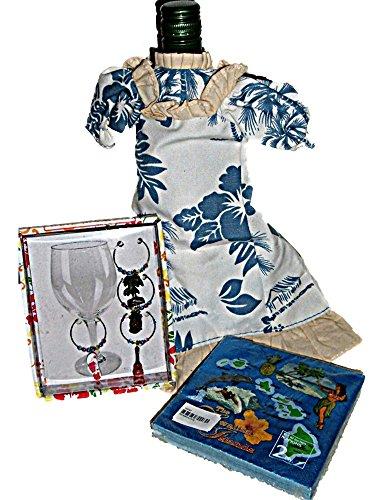 Hawaiian Luau Tropical Party Wine Accessories or Hostess -