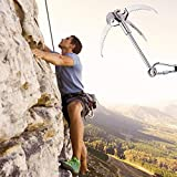 Grappling Hook, Stainless Steel Folding Claw