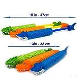 Water gun - Best 3 Guns Pack Kids Pump Foam Blaster Soaker - Top Summer Beach Lake and Backyard Pool Toys - Age 3-10 - Boys and Girls - Prime