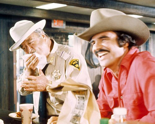 Smokey and the Bandit Featuring Burt Reynolds, Jackie Gleason 8x10 Promotional Photograph (Jackie Gleason Smokey And The Bandit Photos)