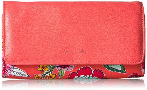 Vera Bradley Women's Rfid Audrey Wallet -signature, coral floral, One Size