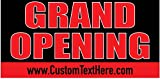Custom Printed Grand Opening Banner - Red / Black (10' x 5')