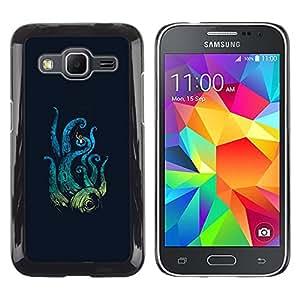 A-type Arte & diseño plástico duro Fundas Cover Cubre Hard Case Cover para Samsung Galaxy Core Prime (Ataque del pulpo)