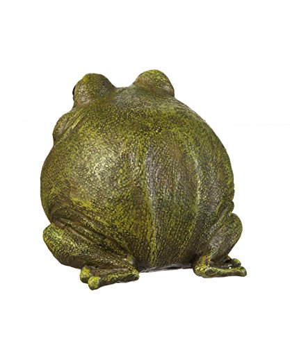 """Evergreen Garden Medium Portly Frog Painted Polystone Outdoor Statue and Key Holder - 6""""W x 5""""D x 6""""H by Evergreen Garden (Image #2)"""