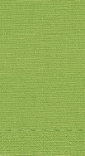 Entertaining with Caspari Grosgrain Guest Towels, Moss Green, Pack of 15