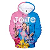 Wazonton JoJo Siwa Hooded Sweatshirts 3D Full Printed JoJo Girls Hoodies Pullover Outfit for Girls