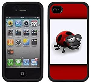 Cute Ladybug Lady Bug Handmade iPhone 4 4S Black Case by icecream design