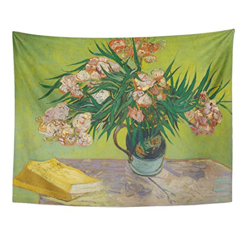 Dutch Jug (Breezat Tapestry Oleanders By Vincent Van Gogh 1888 Dutch Post Impressionist Oil on Canvas the Flowers Fill Majolica Jug Home Decor Wall Hanging for Living Room Bedroom Dorm 60x80 Inches)