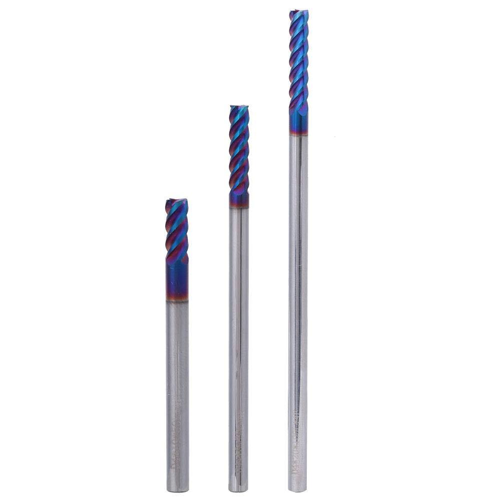 4 * 10 * 4D*50L Fr/äser Wolframstahl 4-Fl/öten-Flachkopffr/äser Wolframstahl Nano-Beschichtung HRC65 /° 4mm Messerdurchmesser Gravur-Schneidwerkzeug