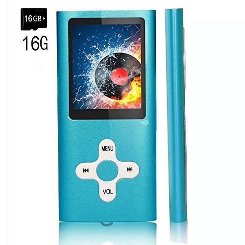 MP3 Player,EVASA Music Players Updated Version 16GB Hi-Fi Sound, Portable Audio Player Build-in Speaker with Voice Recorder and FM Radio Expandable Up to 64GB