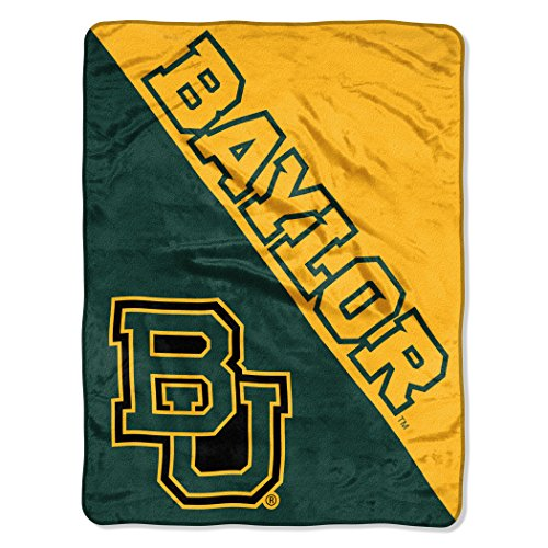 "The Northwest Company Officially Licensed NCAA Baylor Bears Halftone Micro Raschel Throw Blanket, 46"" x 60"""