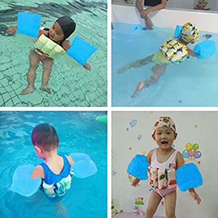 1-4 Years Wowelife Baby Float Suit with Arm Bands Toddler Floating Swimsuit with 8 Removable Buoyancy Sticks for Boys and Girls