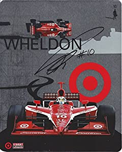 AUTOGRAPHED Dan Wheldon #10 Target Car (Ganassi Racing Team) INDY RACING LEAGUE Signed Rare IRL Signed Picture Hero Card Photo with COA from Trackside Autographs