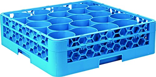 Carlisle RW2014 OptiClean NeWave 20 Compartment Glass Rack with 1 Extender, Blue (Pack of 4) by Carlisle