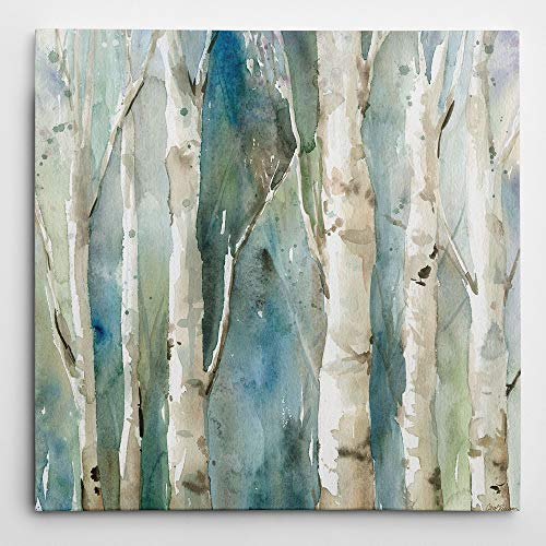 Wexford Home Carol Robinson 'River Birch I' Canvas Wall Art (Art Birch Wall River)