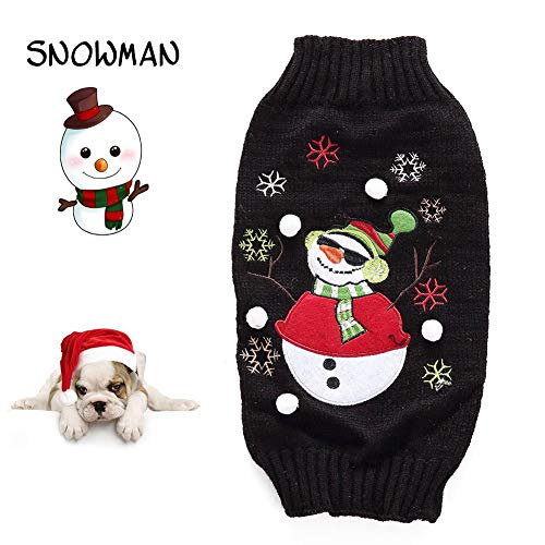 RSHSJCZZY pet Dog Christmas Sweater Dog Ugly Holiday Sweater for Pets ()