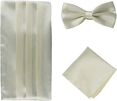 Panegy (Set/3 pcs Hombres Pajarita Pañuelo de Bolsillo Faja Cinturón para Traje Camisa Smoking Esmoquin: Amazon.es: Ropa y accesorios