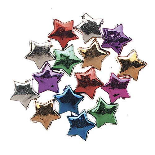 Jewelry Designer 1963-33 Metallic Stars Assorted 12Mm 100Oc (Jewelry Designer Beads)