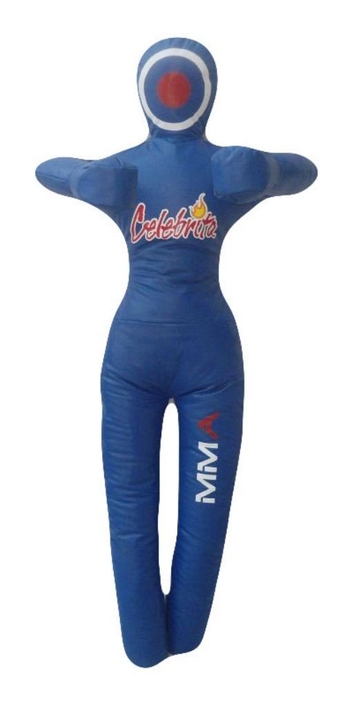 Celebrita MMAビニールPunching Bag GrapplingダミーUnfilled – Standing – hands on chest B00W4BYB5S Vinyl-Blue 40\