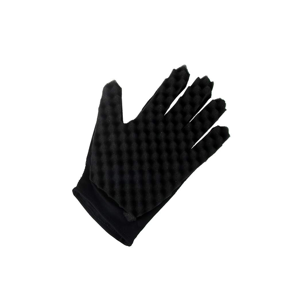 SportHome Fashion Curl Hair Sponge Gloves for Barbers Wave Twist Brush Gloves Styling Tool for Curly Hair Styling (A)