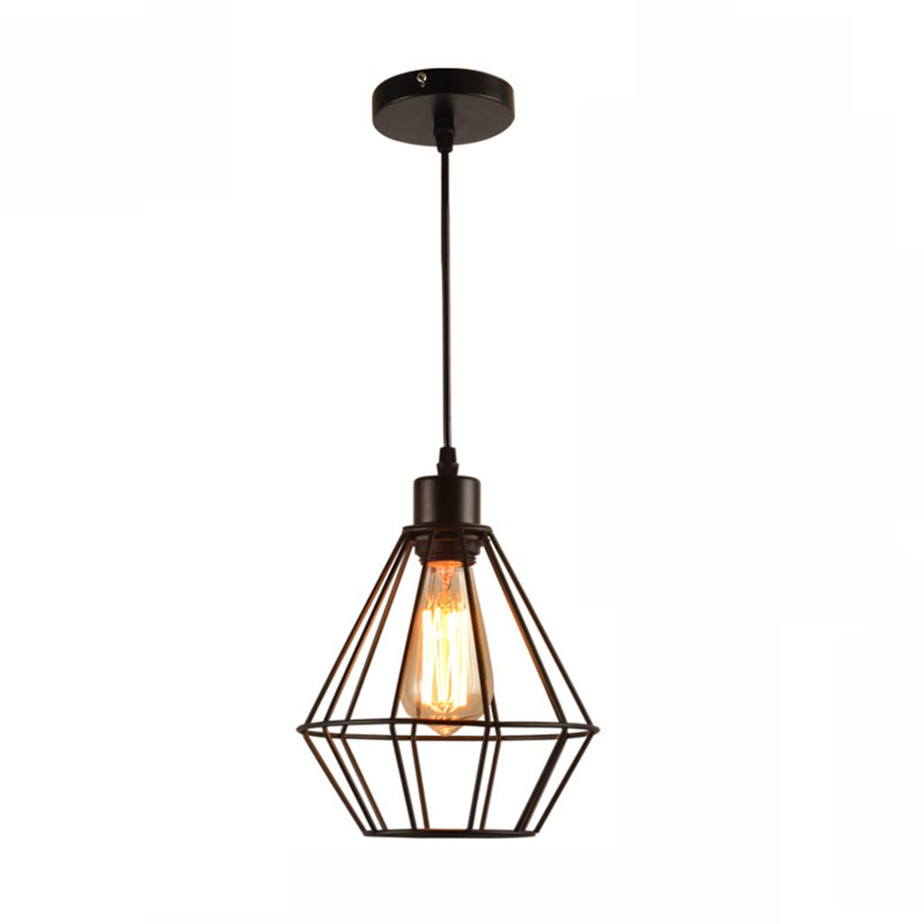 "Pendant Lights Restaurant Bar Table Industrial Wind Chandelier Hanging Lamp,Better Homes & Gardens 7.87"" Metal Cage Swag Pendant Light, Black Finish Lighting & Ceiling Fans"