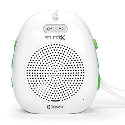 Singing Machine SMI436BT 1.5W Portable Bluetooth Audio Streaming for Smartphone, Computers and Tablets - White/Green
