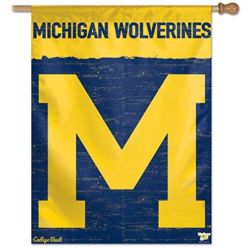 Wincraft Michigan Wolverines College Vault 27x37 Vertical Flag