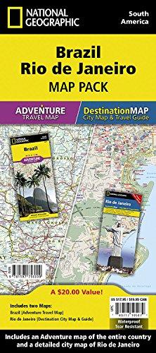 Brazil, Rio de Janeiro [Map Pack Bundle] (National Geographic Adventure Map)