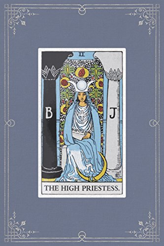 The High Priestess: 120 Blank Lined Pages, 6 X 9 College Ruled Notebook, The High Priestess Tarot Card - Antique Vintage Style Journal, Diary, ... Vintage Style - Tarot Card Notebooks) ()