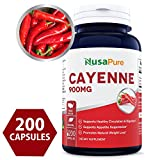 Best Cayenne Pepper 900mg 200 Capsules (NON-GMO & Gluten Free) – Aids Weight Loss, Protects Against Gastric Ulcers, Boosts Circulation & Suppresses Appetite ★100% MONEY BACK GUARANTEE!★ For Sale