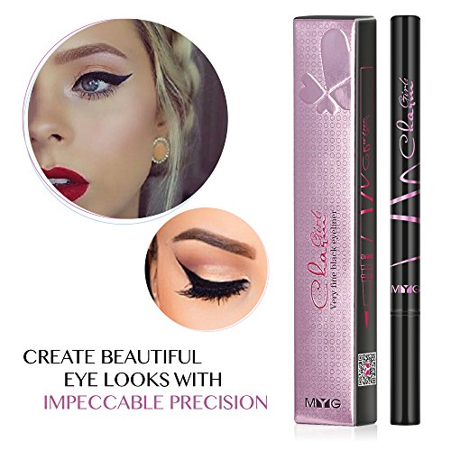 Enhanced Liquid Eyeliner with New Design, Waterproof Sweat Resist, Perfect Precise Lines,Non-Core High Sealing Liquid, Charming Eyeliner Deeply Pigmented (Black)