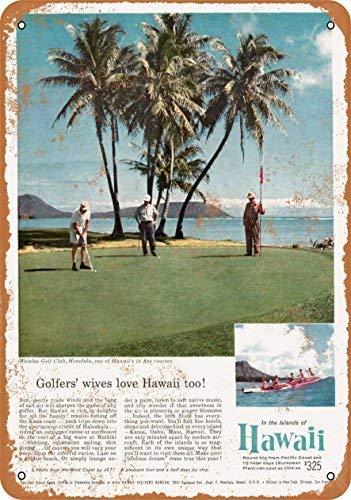 (NNBD Vintage Look Metal Sign - 1959 Waialae Golf Club Honolulu Hawaii Wall Plaque Sign 8X12 Inch)
