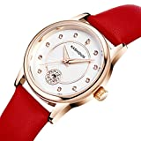 KASHIDUN Women's Watches Fashion Dress Diamonds Watch Case With Watch Batteries Strap Box Watches