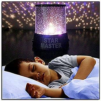 Amazoncom Night Light Kids Lamp Romantic Rotating Sky Moon