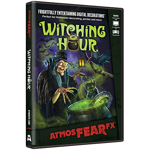 AtmosFX Witching Hour Digital Decorations DVD for Halloween Holiday Projection -