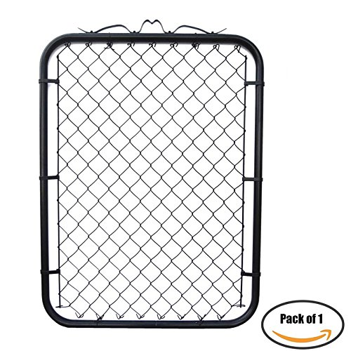 MTB Black Coated Chain Link Garden Walking Fence Gate 48-inch Overall Height by 32-inch Frame Width (Fit a 36-inch Opening), 1 Pack ()
