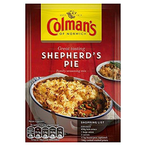 Receta de la empanada mezcla 50 g de pastor de Colman (paquete de 12 x