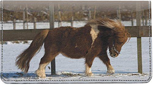 [Shetland Ponies Leather Checkbook Cover] (Shetland Pony Costumes)