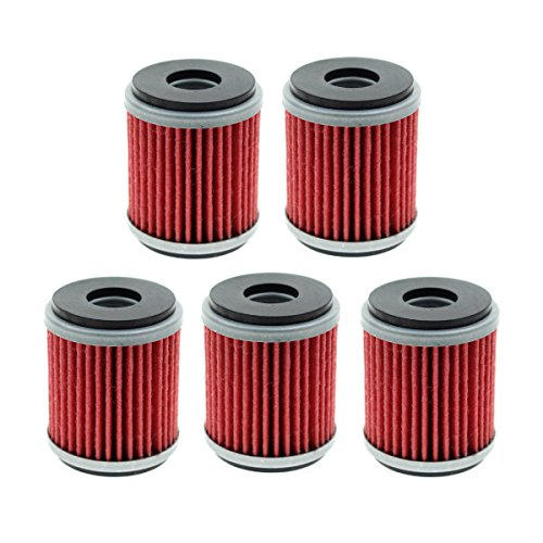 Carbhub HF140 Oil Filter (Pack of 5) for Yamaha YF