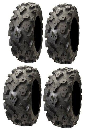 Full set of STI Black Diamond XTR DOT Radial 27x9-12 and 27x11-12 ATV Tires (4) ()