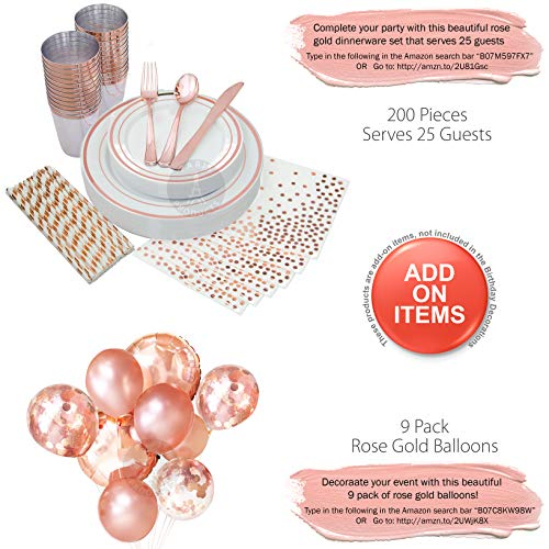 1st BIRTHDAY GIRL DECORATIONS (37 Piece Set) | Great for 1st