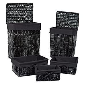 5159k9qasjL._SS300_ 100+ Black Wicker Patio Furniture Sets For 2020
