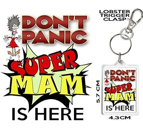 Don t Panic - Super Mam es aquí, novedad llavero, llavero ...