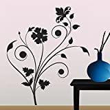 Decals Design 'Floral Design' Wall Sticker (PVC Vinyl, 70 cm x 50 cm), Multicolour