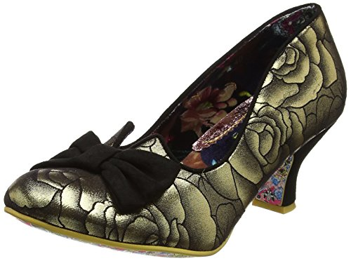 Irregular ChoiceDazzle Razzle - Zapatos de Tacón mujer Black (Gold/Black)