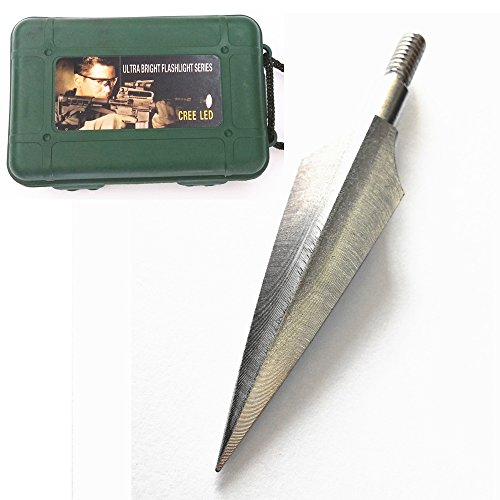 Hunting Broadheads 150 Grain 2 Blade Screw-In Arrowheads with Case for Archery Bow Arrows and Crossbow Bolts (6 Pack In A Box)
