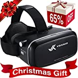 """Virtual Reality Headset 3D VR Glasses by Voxkin – High Definition Optical Lens, Fully Adjustable Strap, Focal and Object Distance – Perfect VR Headset for iPhone, Samsung and any Phones 3.5"""" to 6"""""""