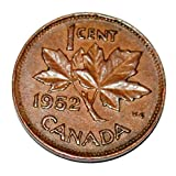 Canada 1952 1 Cent Copper One Canadian Penny